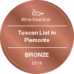 vinibianchirossi rewards Tuscan List in Piemonte Bronze 2018