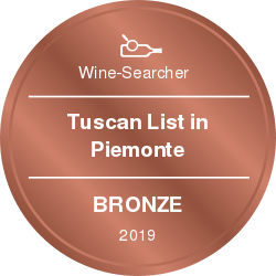 vinibianchirossi rewards Tuscan List in Piemonte Bronze